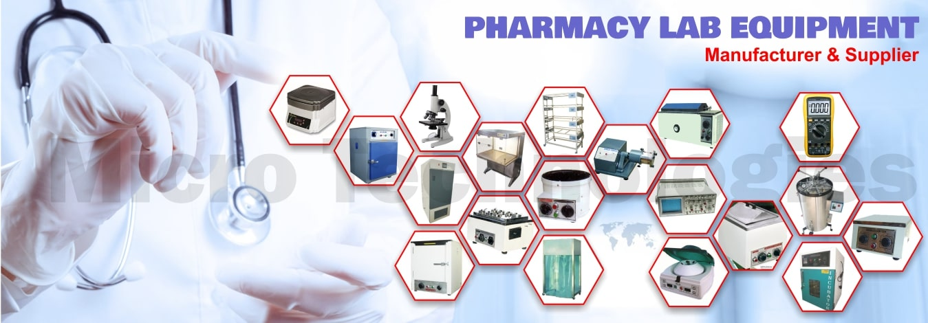 Leading Manufacturer & Supplier All type Pharmacy Lab Equipment, Instrument Exporter